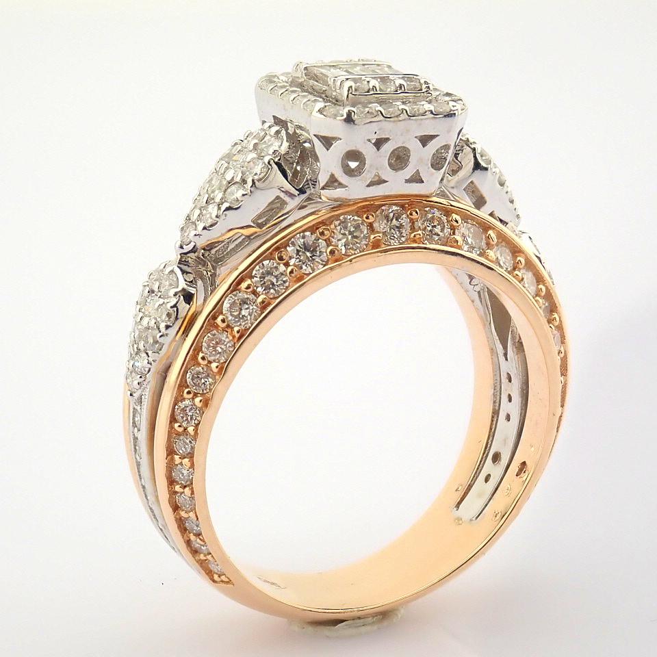 14K White and Rose Gold Diamond Ring - Image 2 of 8