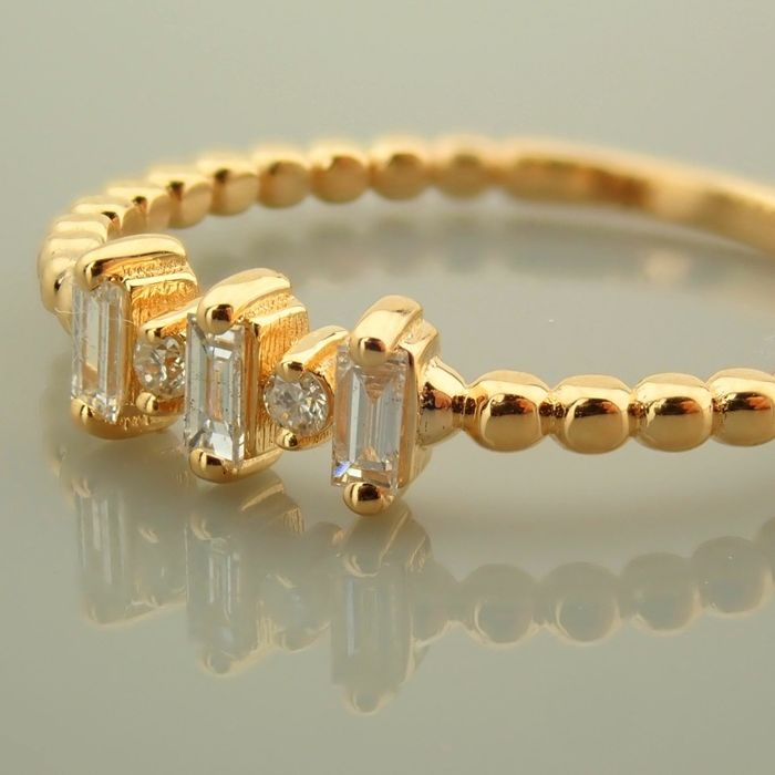 14 kt. Yellow gold - Necklace with pendant - 0.10 Ct. Diamond - Diamonds - Image 4 of 9