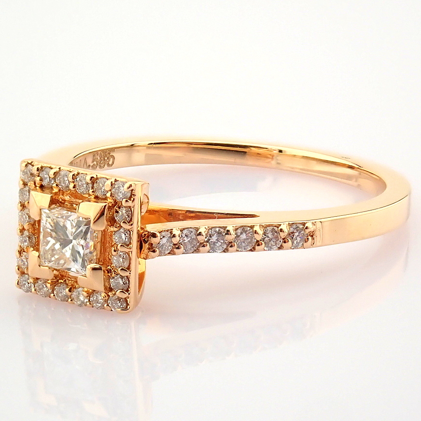 14K Yellow and Rose Gold Diamond Ring - Image 3 of 6