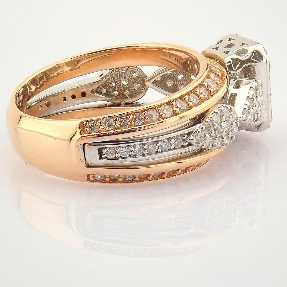 14K White and Rose Gold Diamond Ring - Image 8 of 8
