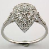 14 kt. White gold - Ring - 0.53 Ct. Diamond