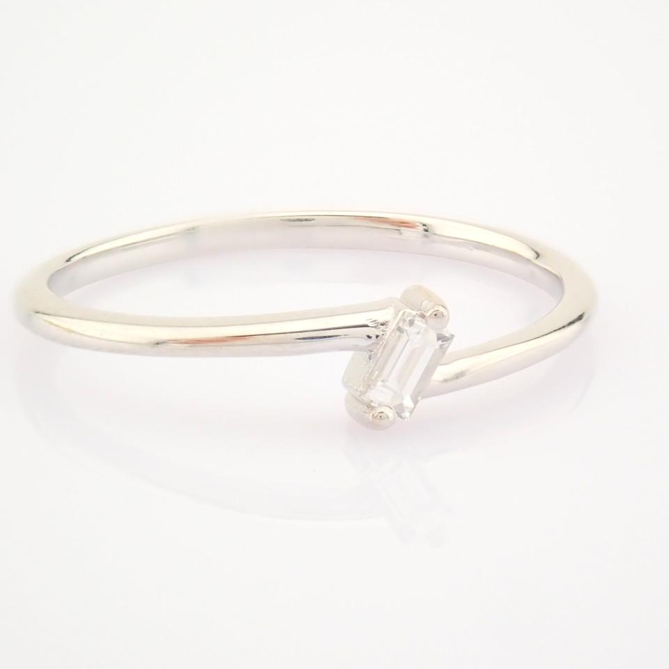 14K White Gold Diamond Ring - Image 8 of 12