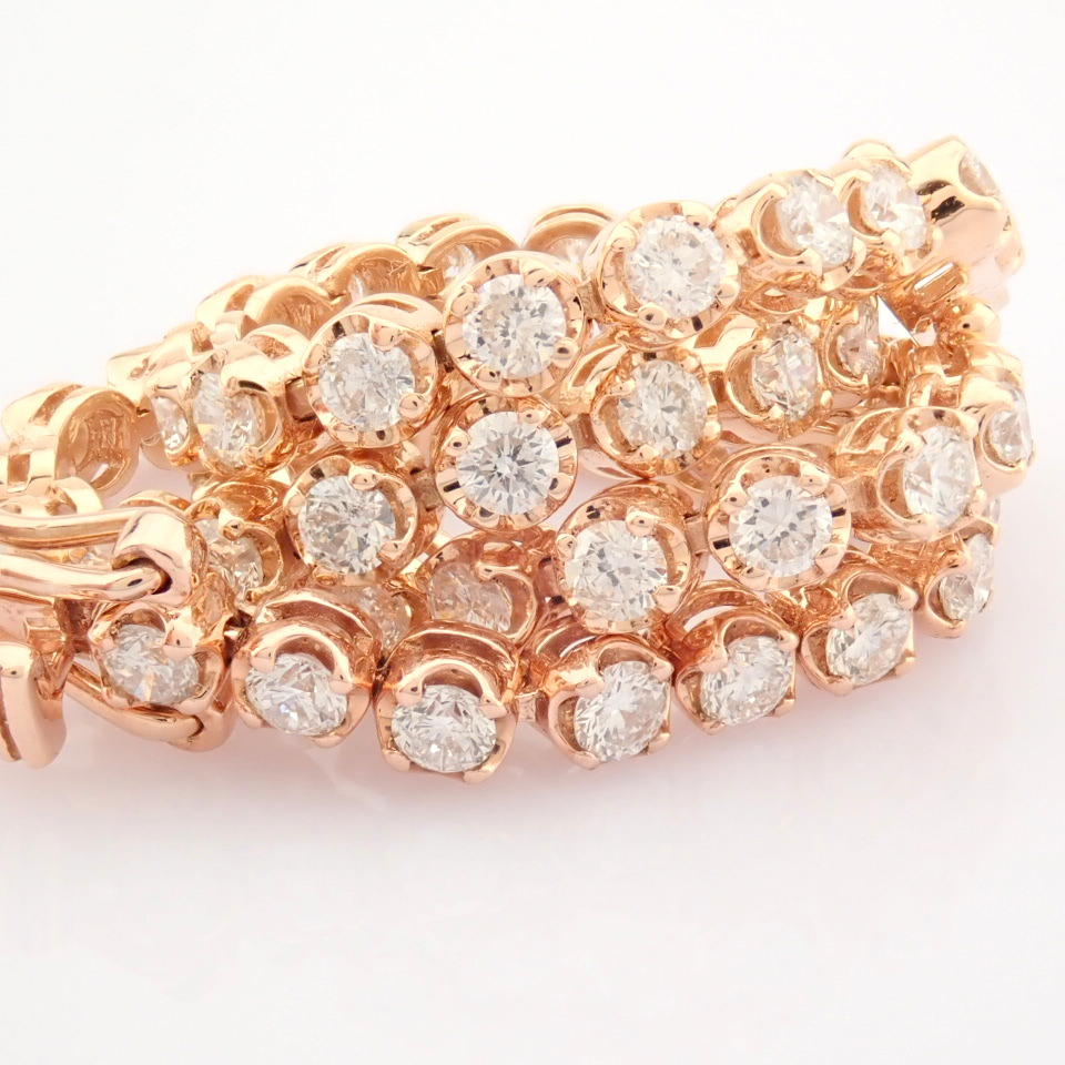 2,10 Ct. Diamond Tennis Bracelet (Crown) - 14K Rose Gold - Image 7 of 14