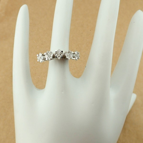 14 kt. White gold - Ring - 1.06 Ct. Diamond - Image 6 of 7