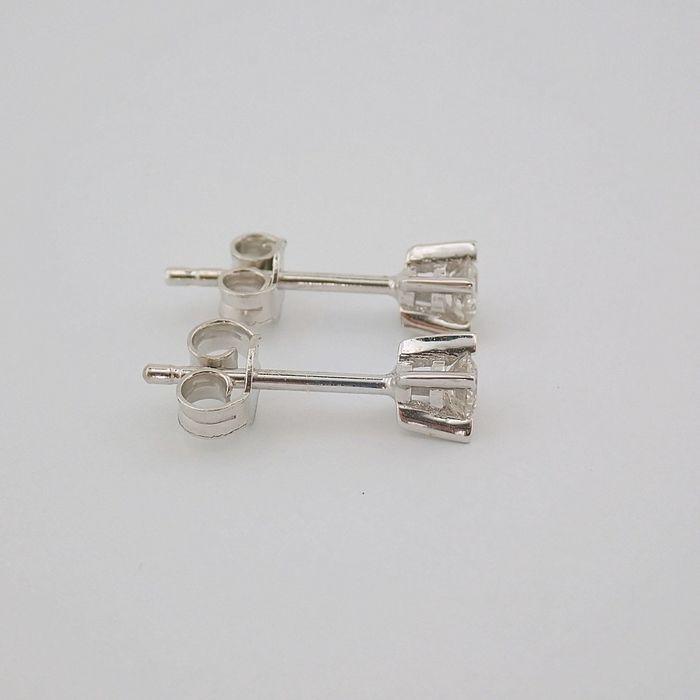 14 kt. White gold - Earrings - 0.20 Ct. Diamond - Image 2 of 6