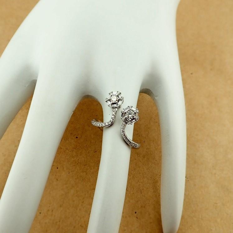 14 kt. White gold - Ring - 0.57 Ct. Diamond - Image 6 of 7