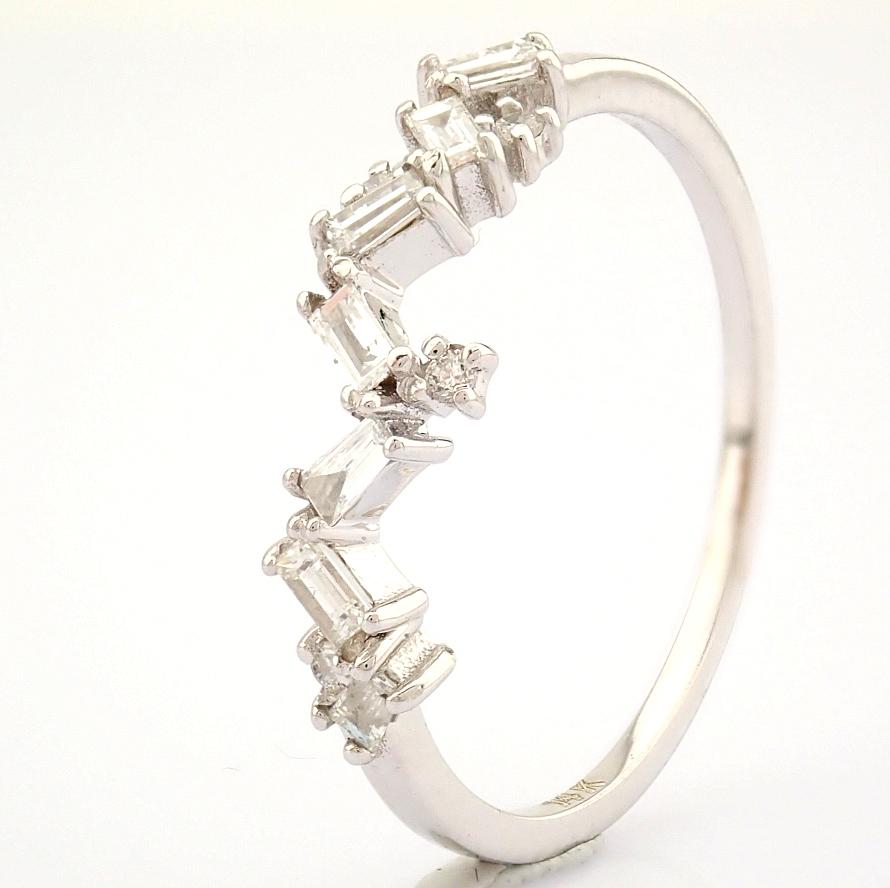 14K White Gold Diamond Ring - Image 3 of 9