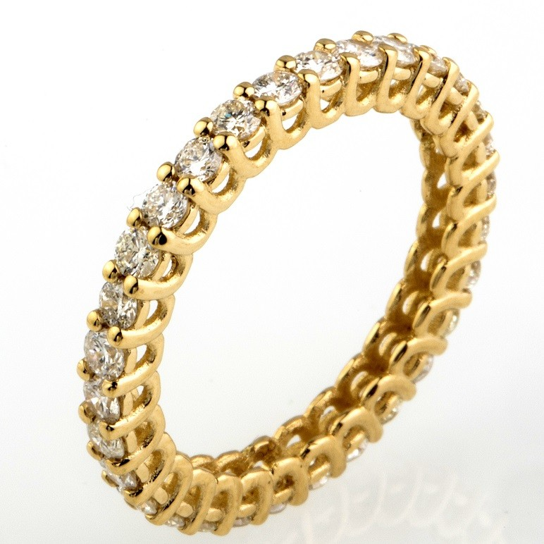 14K Yellow Gold Eternity Ring 1,28 Ct. - Image 3 of 3