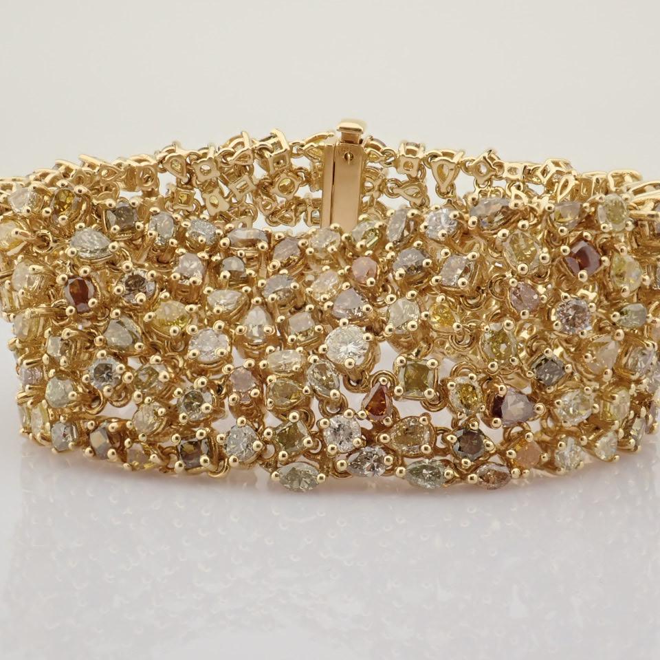 18K Yellow Gold Bracelet- 33,46 Ct. Natural Fancy Diamond - Image 9 of 10