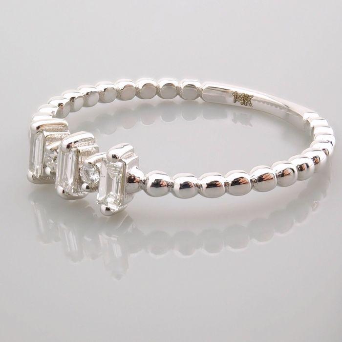 14 kt. White gold - Ring - 0.12 Ct. Diamond - Image 4 of 13