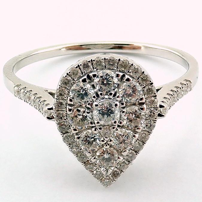 14 kt. White gold - Ring - 0.53 Ct. Diamond - Image 2 of 5