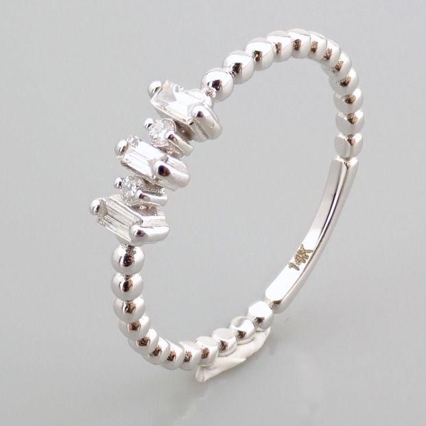 14 kt. White gold - Ring - 0.12 Ct. Diamond - Image 9 of 13