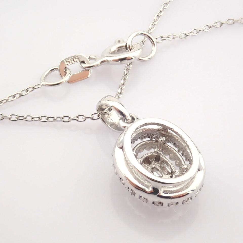 14K White Gold Diamond Necklace - Image 6 of 6