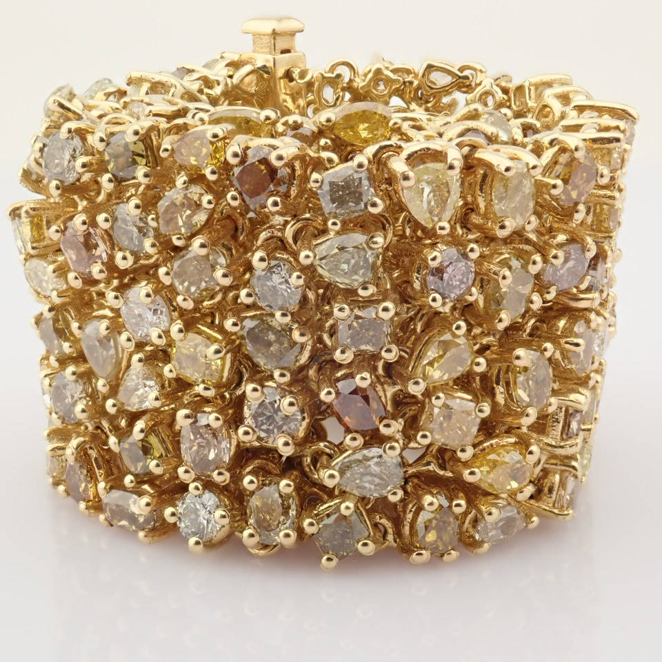 18K Yellow Gold Bracelet- 33,46 Ct. Natural Fancy Diamond - Image 7 of 10