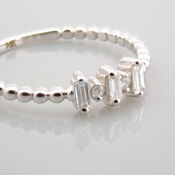 14 kt. White gold - Ring - 0.12 Ct. Diamond - Image 13 of 13