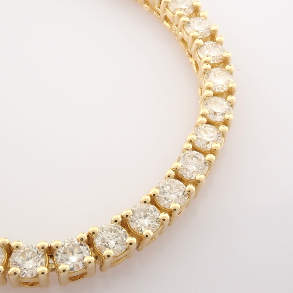 14K Yellow Gold Half Eternity Necklace 3,20 Ct. - Image 14 of 14