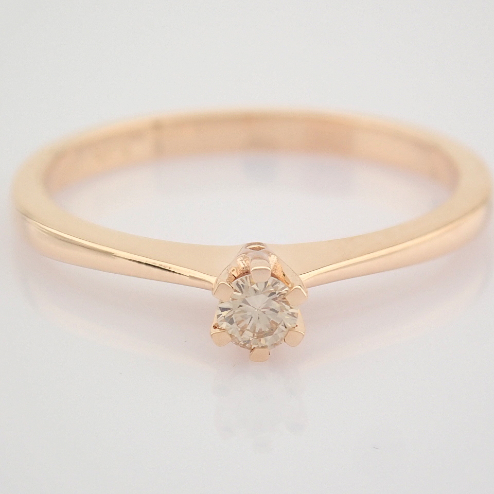 14 Rose/Pink Gold Diamond Solitaire Ring - Image 6 of 8