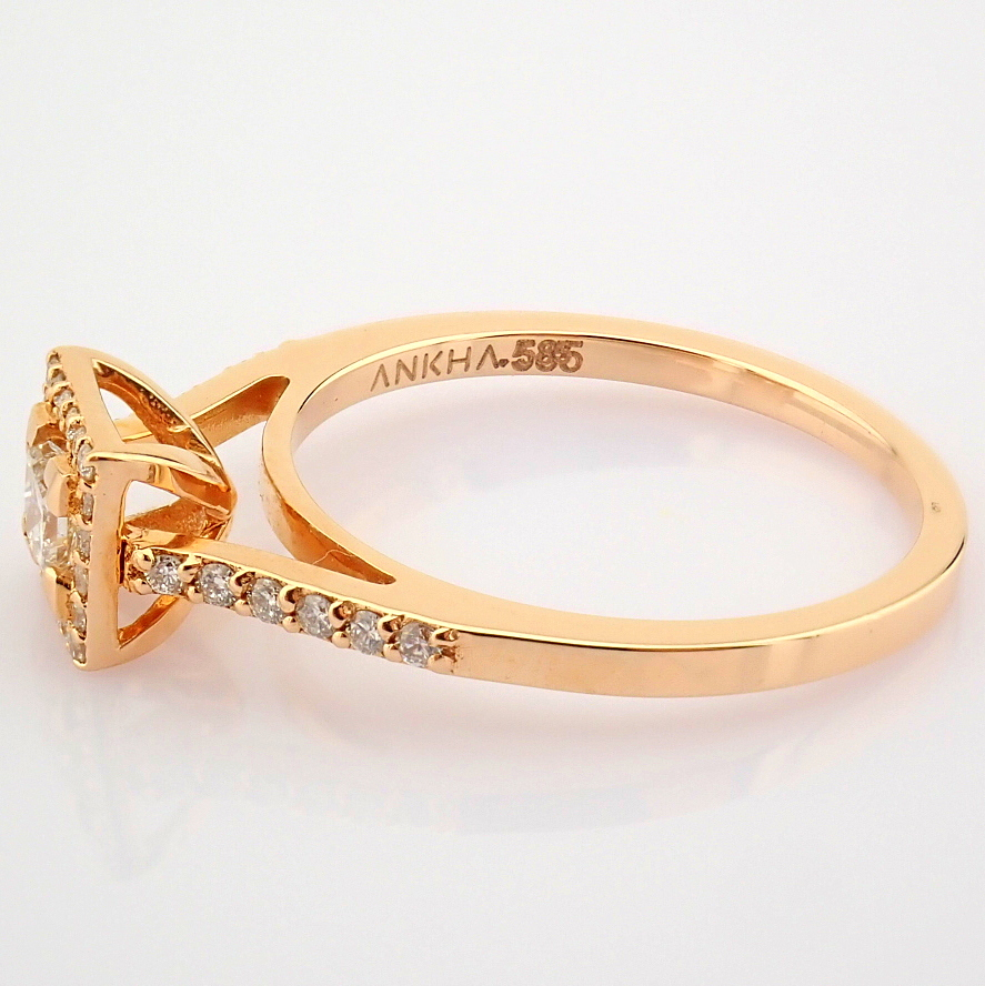 14K Yellow and Rose Gold Diamond Ring - Image 2 of 6