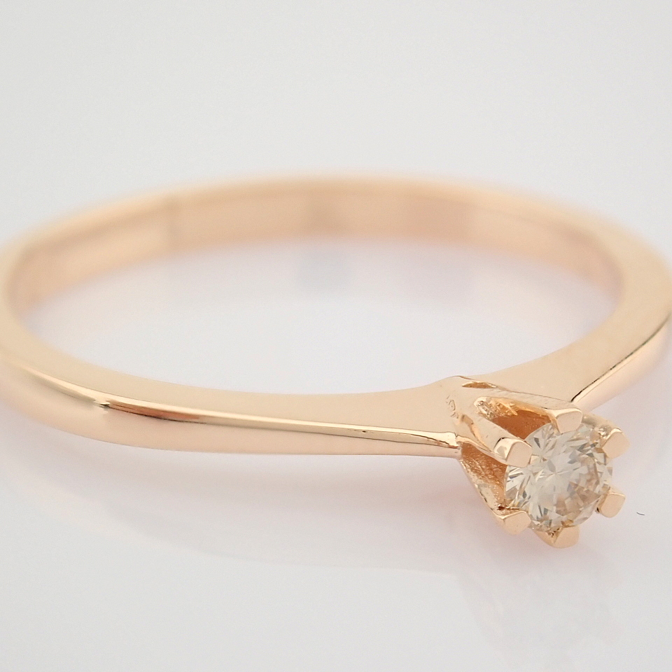 14 Rose/Pink Gold Diamond Solitaire Ring - Image 5 of 8