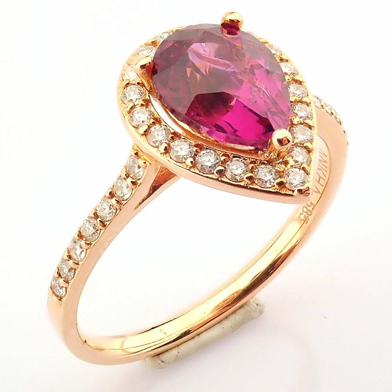 14K Yellow and Rose Gold Diamond & Rodalite Ring - Image 3 of 7