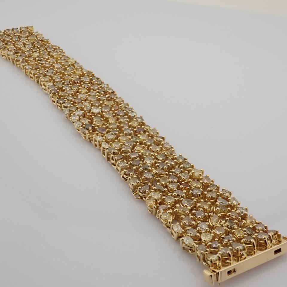 18K Yellow Gold Bracelet- 33,46 Ct. Natural Fancy Diamond - Image 4 of 10