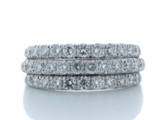 18ct White Gold Channel Set Semi Eternity Diamond Ring 1.61 Carats