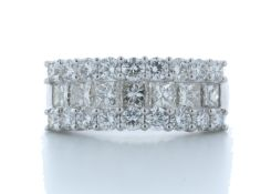 18ct White Gold Claw Set Semi Eternity Diamond Ring 2.43 Carats