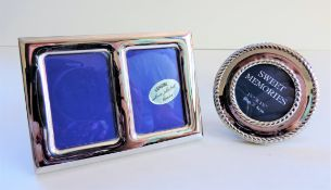 Pair Silver Plated Photo Frames
