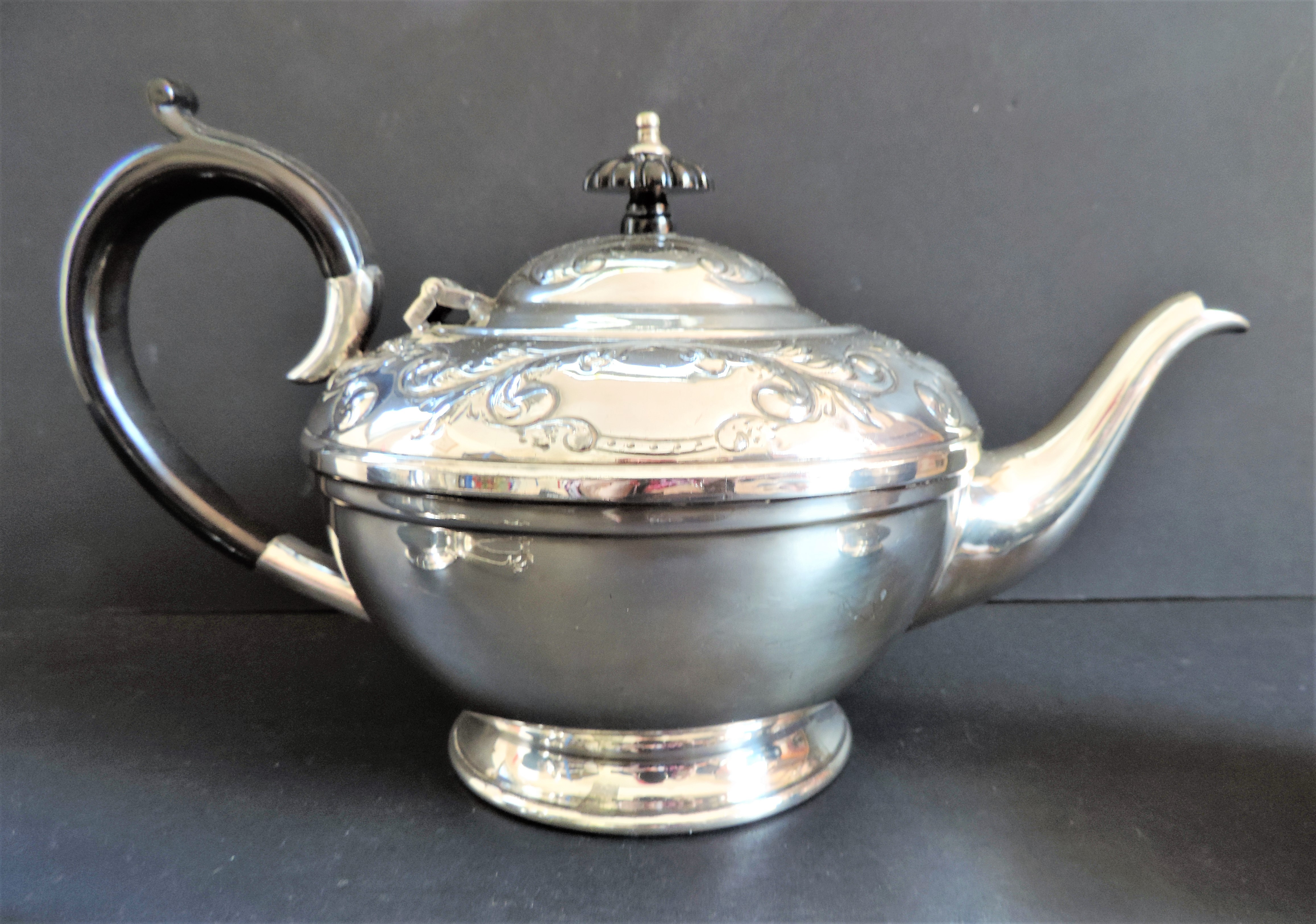 Antique Silver Plated Repousse Decorated Tea Set - Image 6 of 7