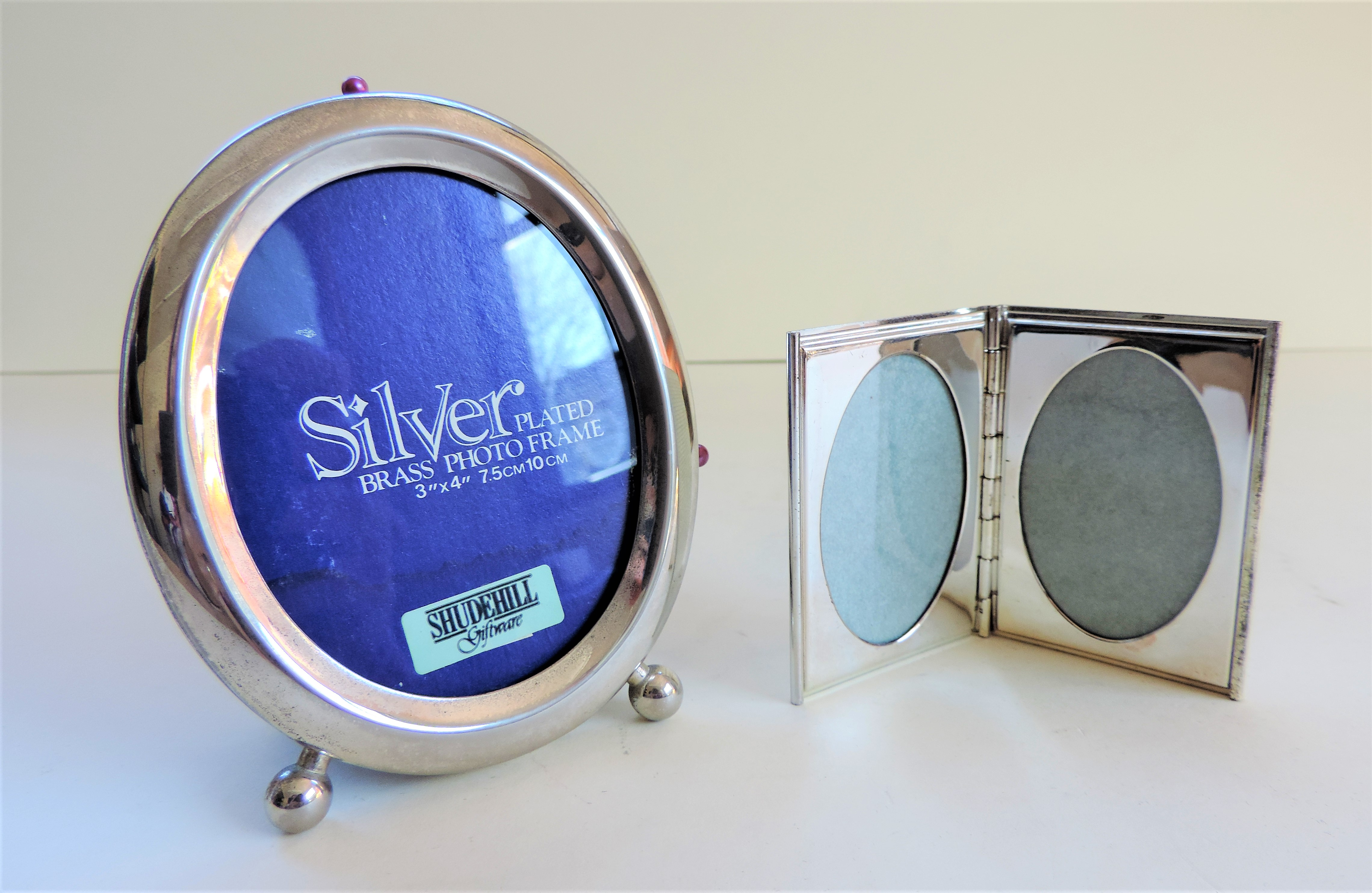 Pair Silver Plated Photo Frames - Image 2 of 2