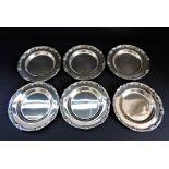 Set 6 Vintage Silver Plated Drinks Coasters