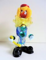 Vintage Murano Glass Clown Decanter with Removable Head