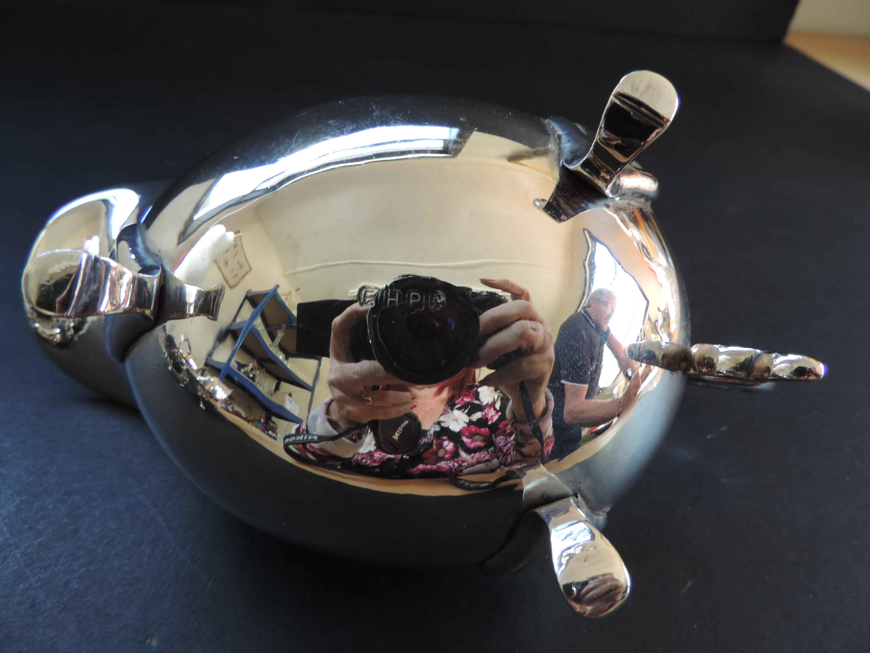 Antique Art Nouveau Silver Plate Gravy/Sauce Boat - Image 3 of 3