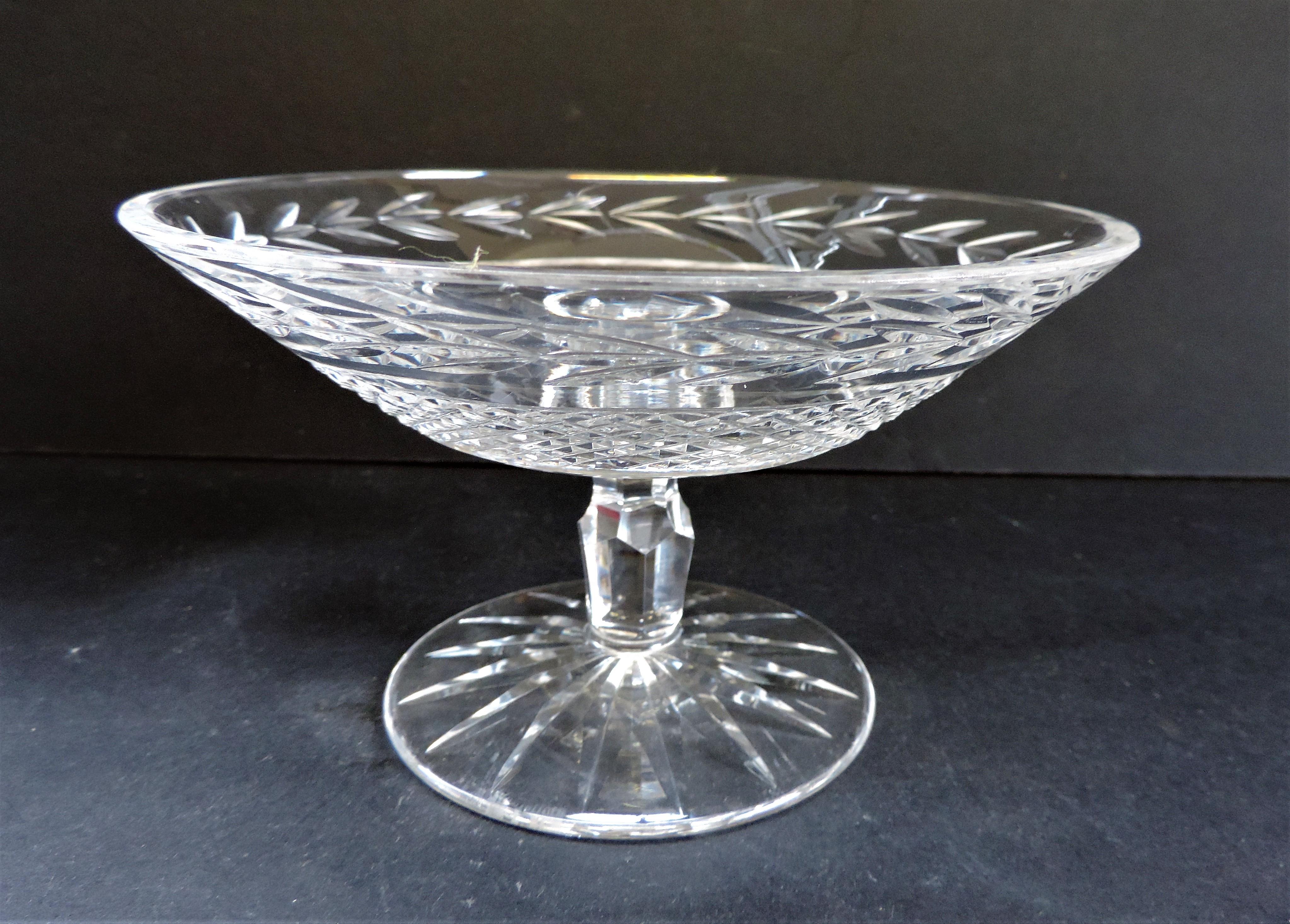 Vintage Val Saint Lambert Crystal Compote Dish - Image 3 of 5