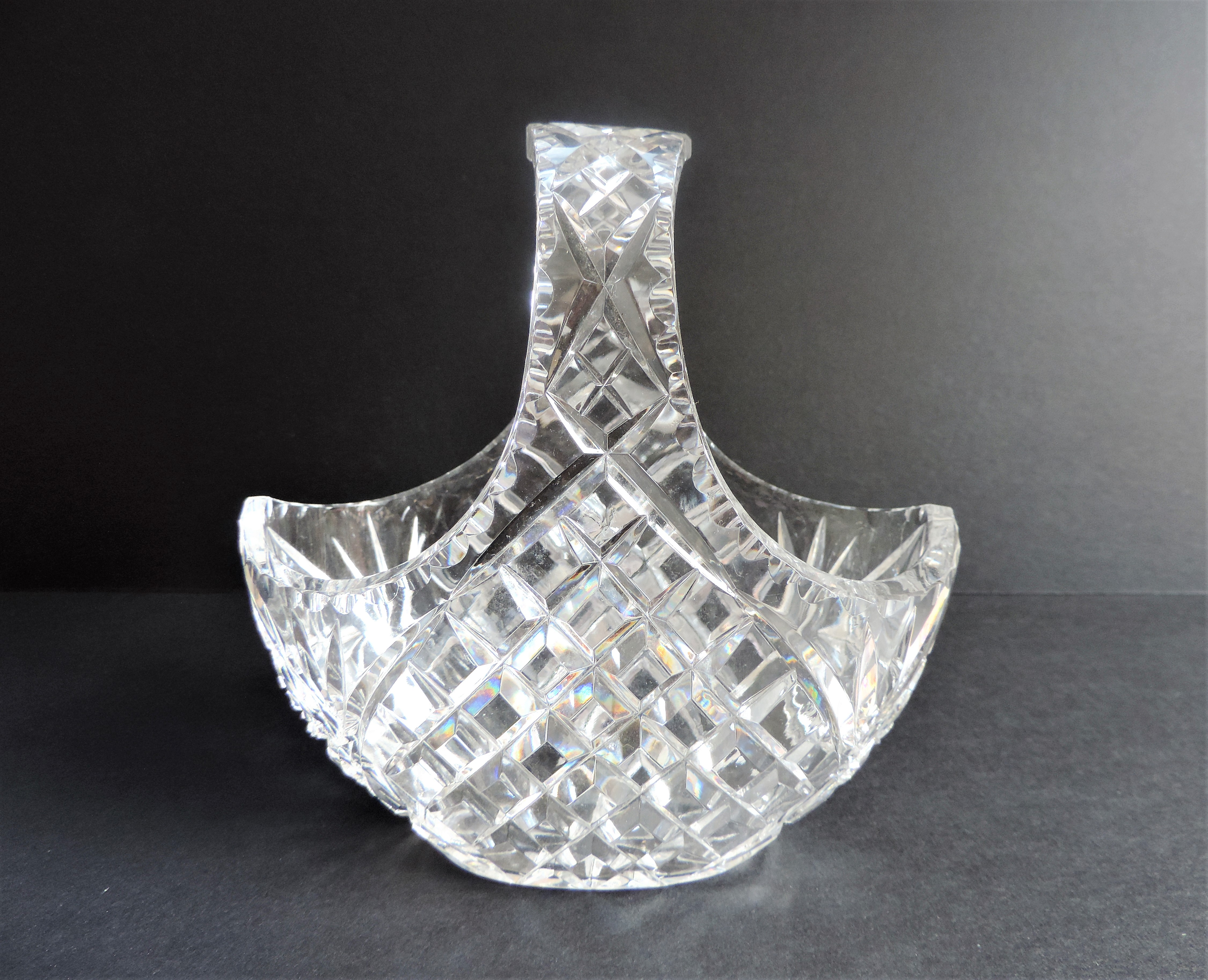 Vintage Crystal Basket for Sweets/Chocolates & Flowers