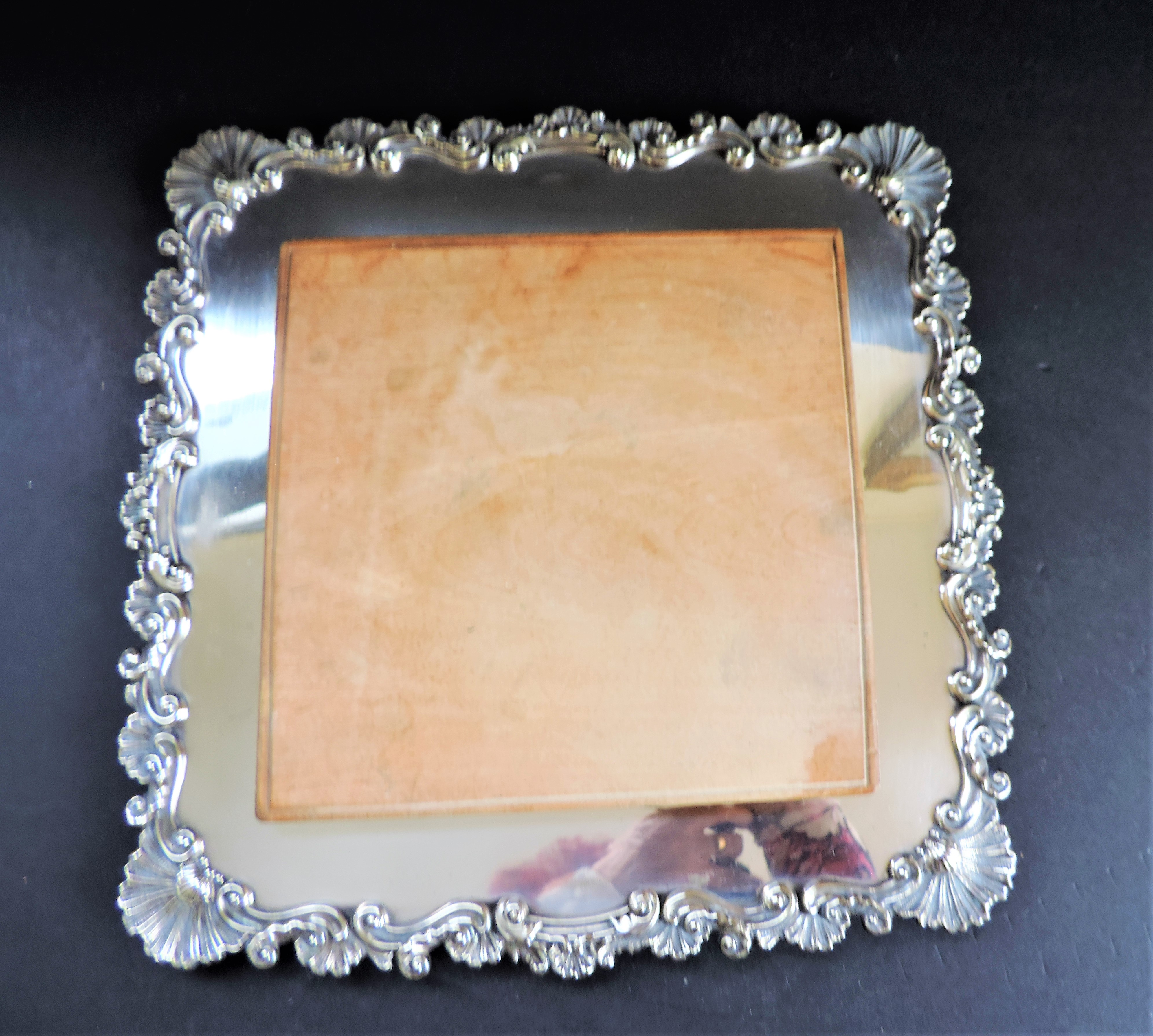 Antique Victorian Silver Plated Bread/Cheese Board Serving Set - Image 4 of 6