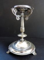 Antique Silver Plated Candle Holder
