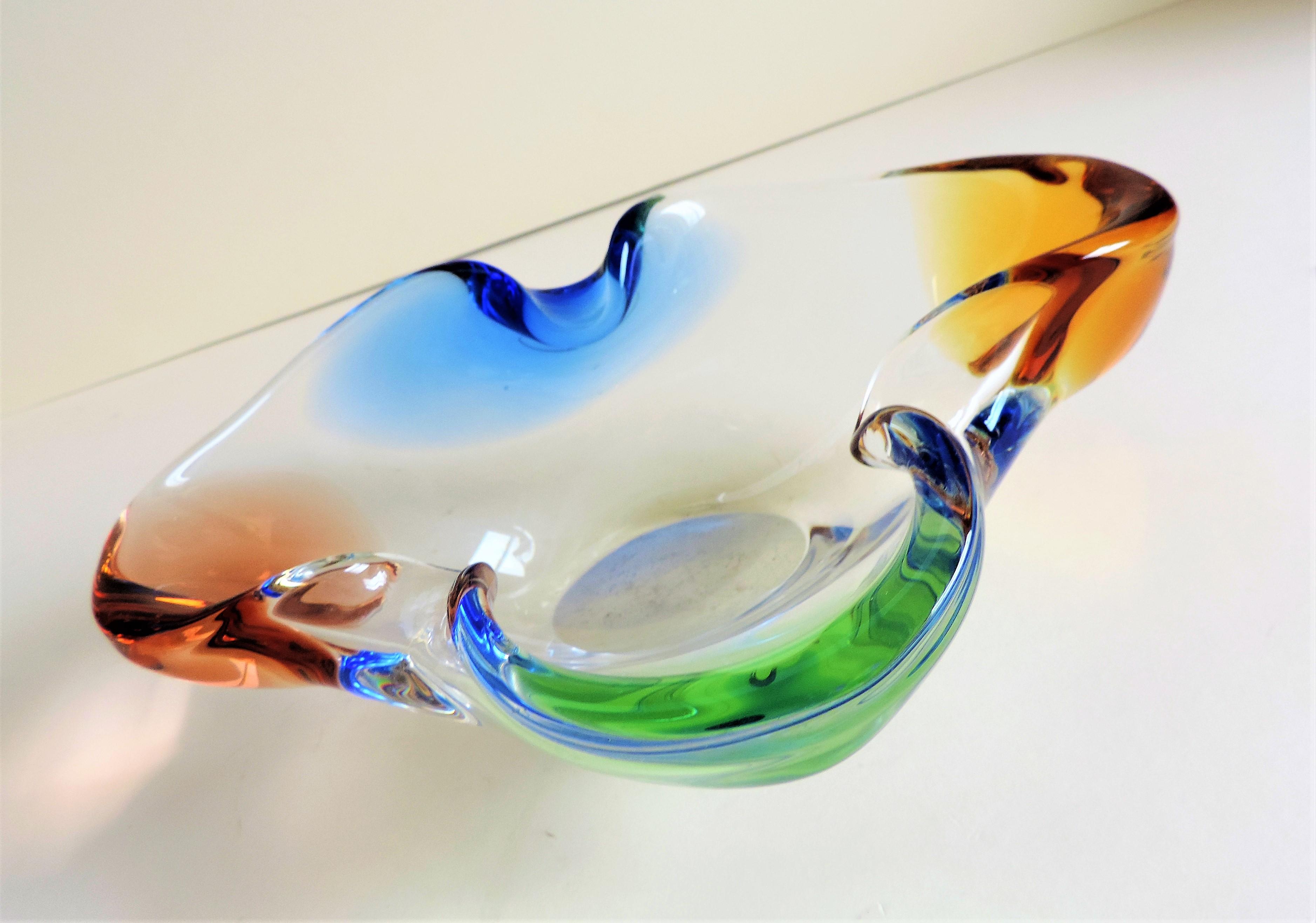 Frantisek Zemek Glass Bowl Mstisov Glassworks c.1960's