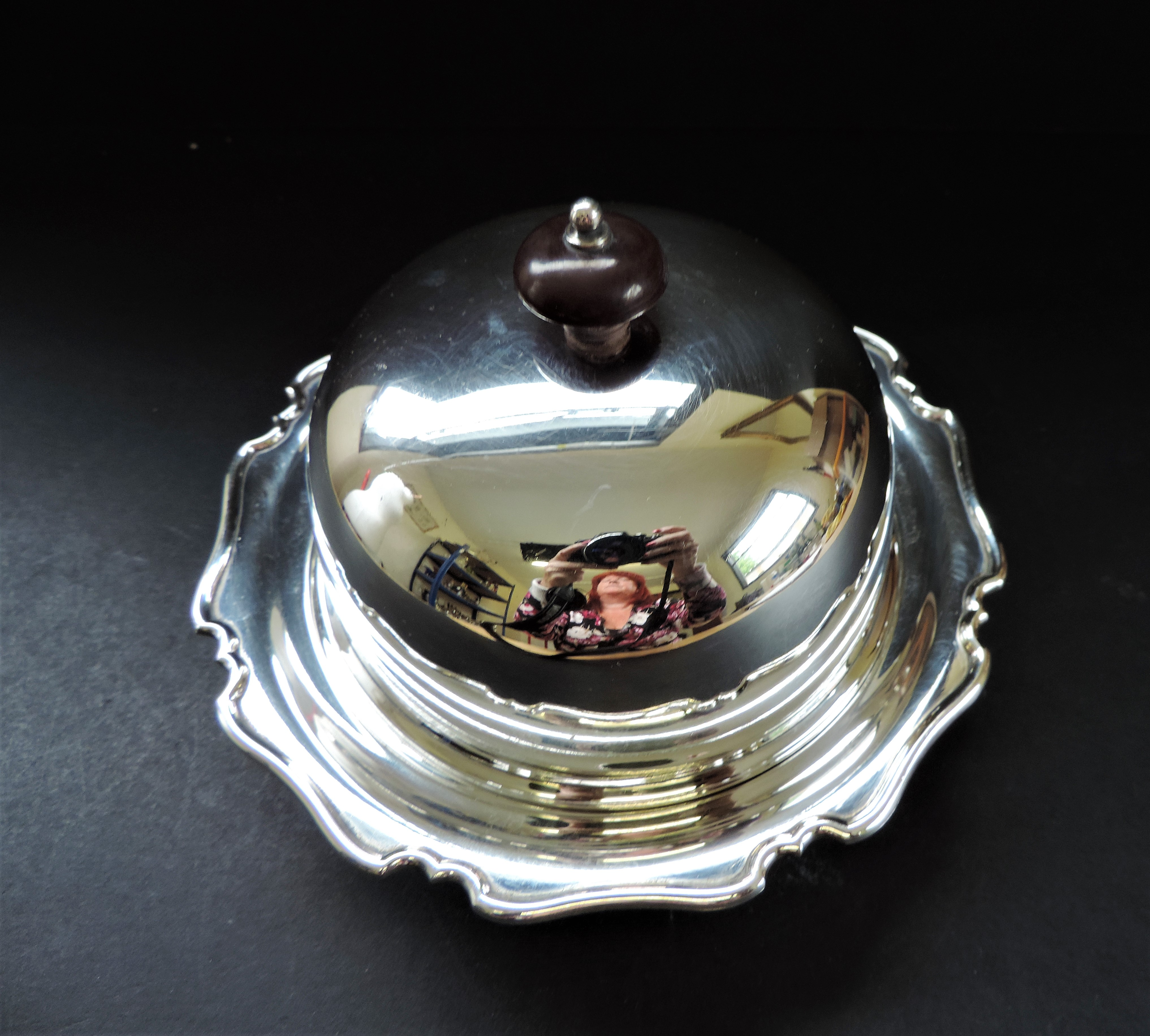 Antique Art Nouveau Silver Plated Muffin Dish/Warmer - Image 5 of 7