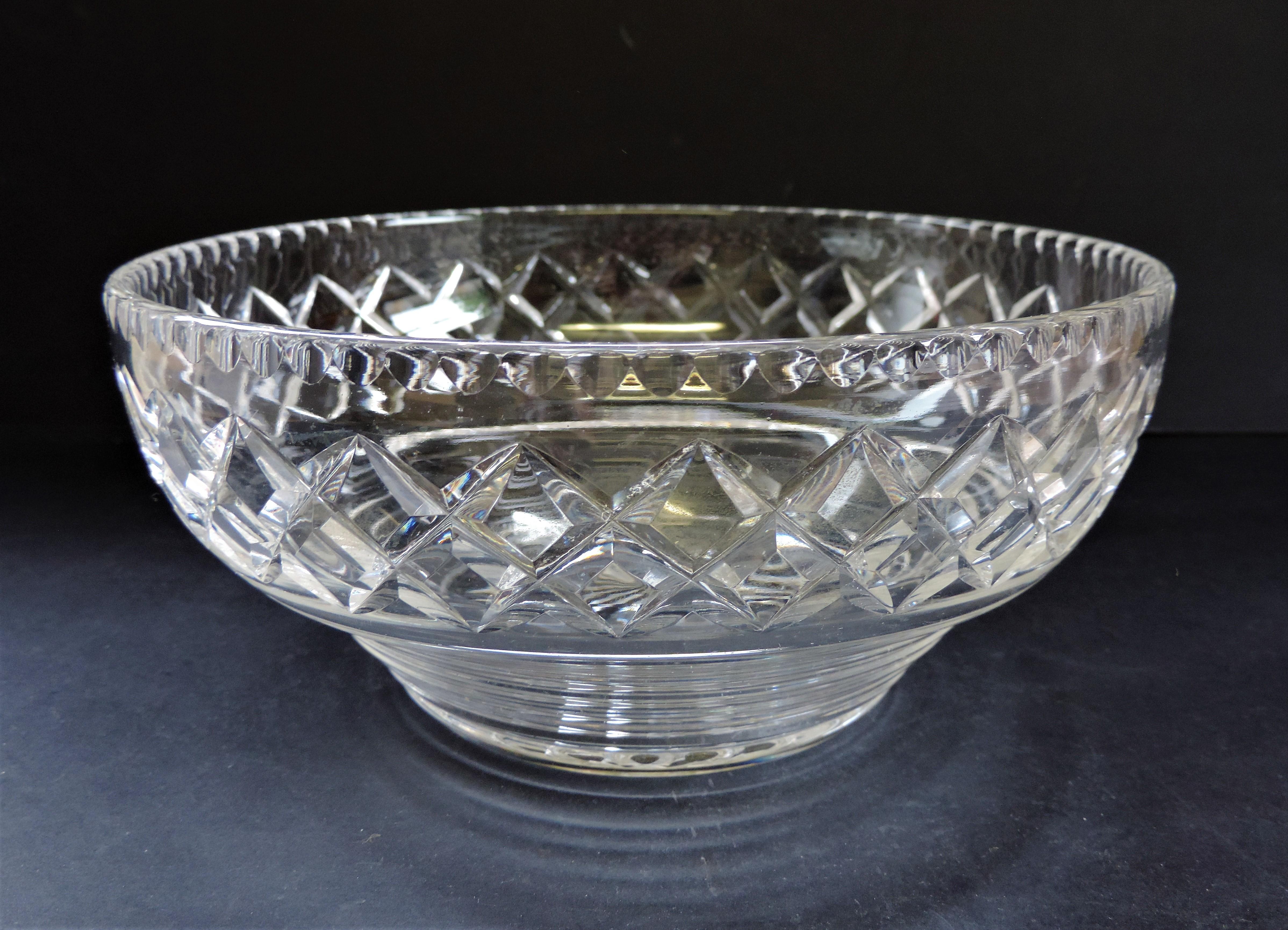 Vintage Art Deco Stuart Crystal Fruit Bowl