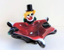 Vintage Murano Glass Clown Ashtray