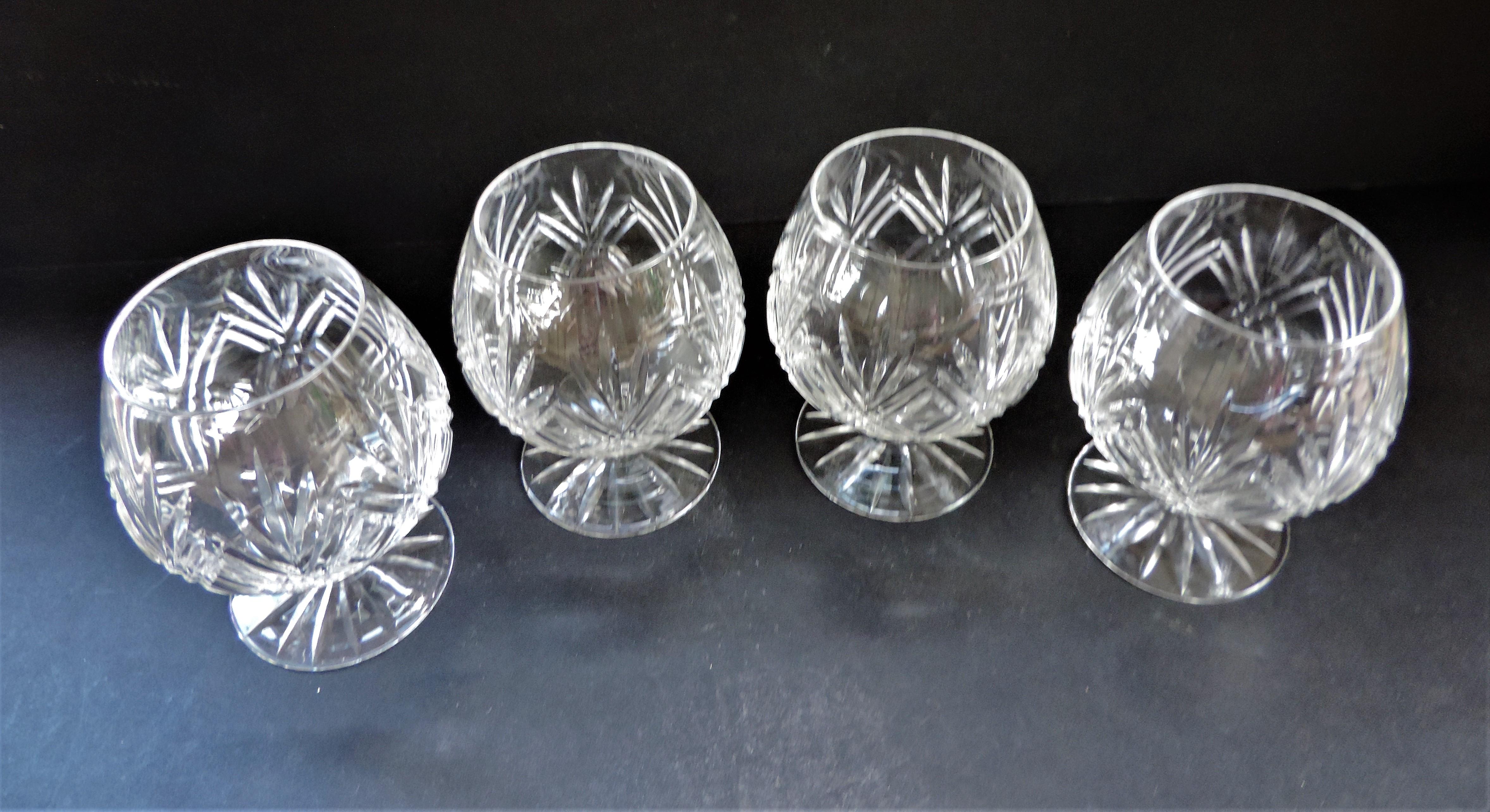 Set 4 Crystal Brandy Glasses - Image 2 of 3