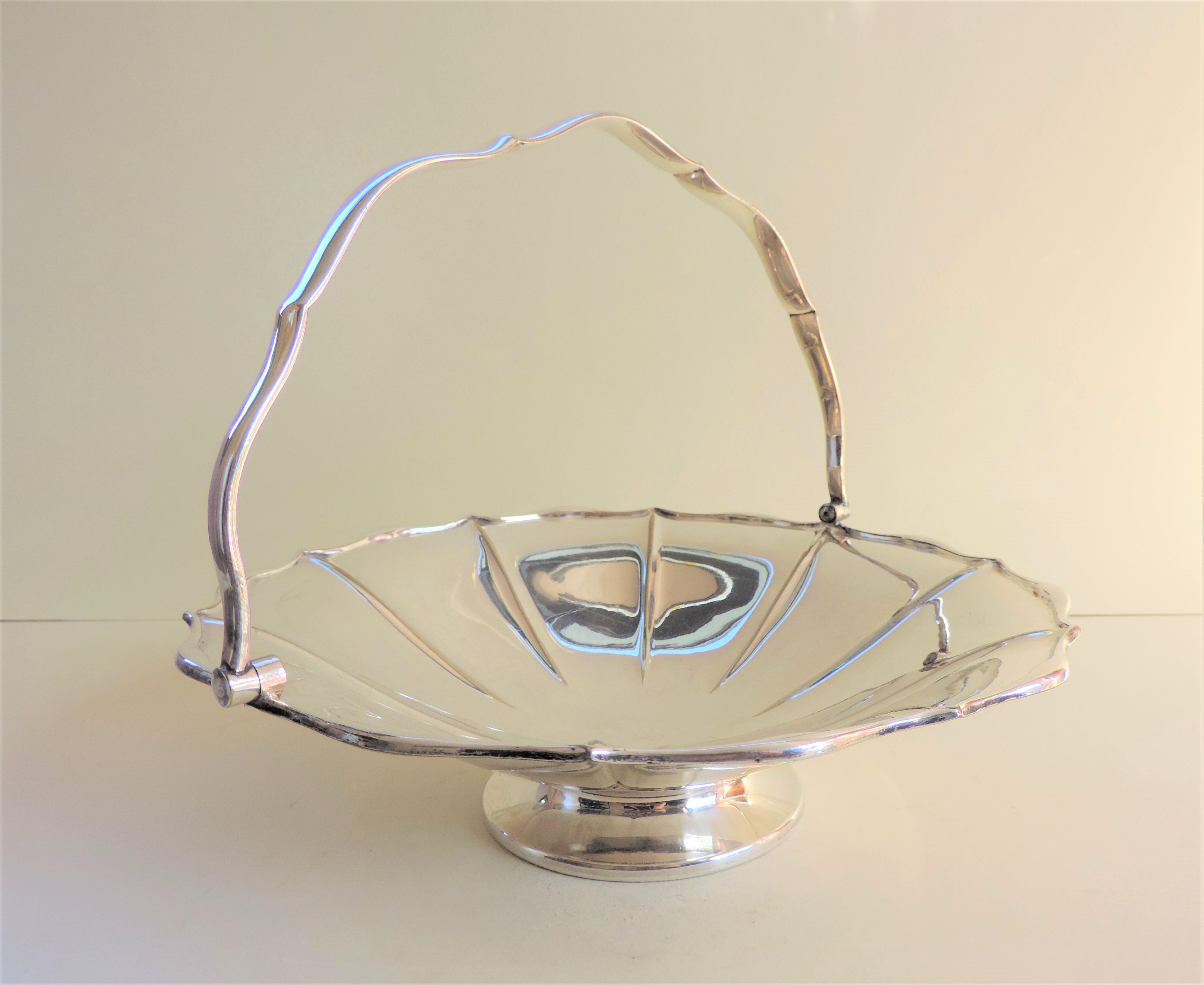 Antique Art Nouveau Mappin & Webb Silver Plated Cake/Bread Basket