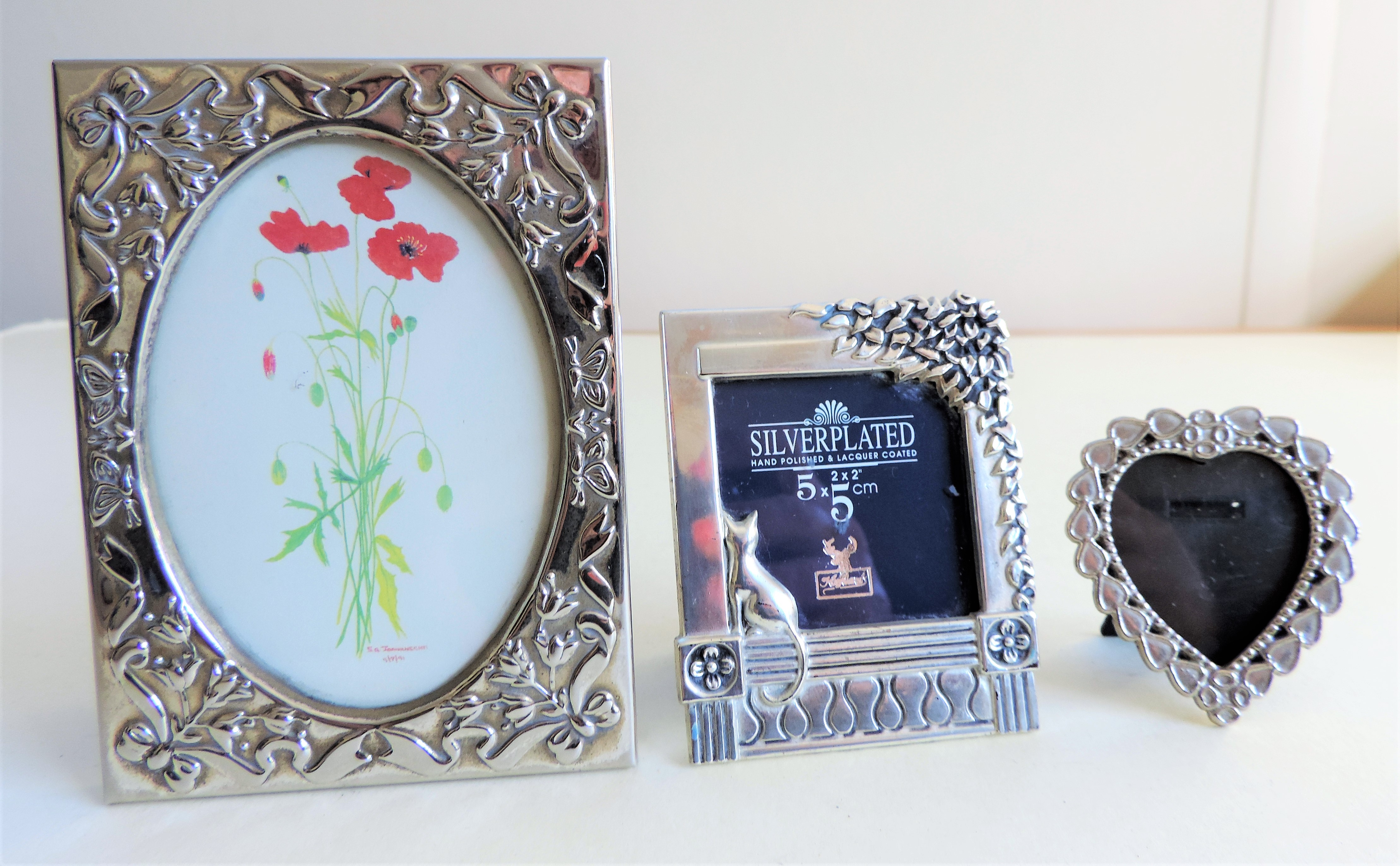 Trio Silver Plated Photo Frames - Image 2 of 2