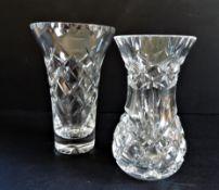 Pair of Cut Crystal Vases
