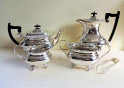 Antique Art Nouveau Silver Plated 5 Piece Tea & Coffee Set