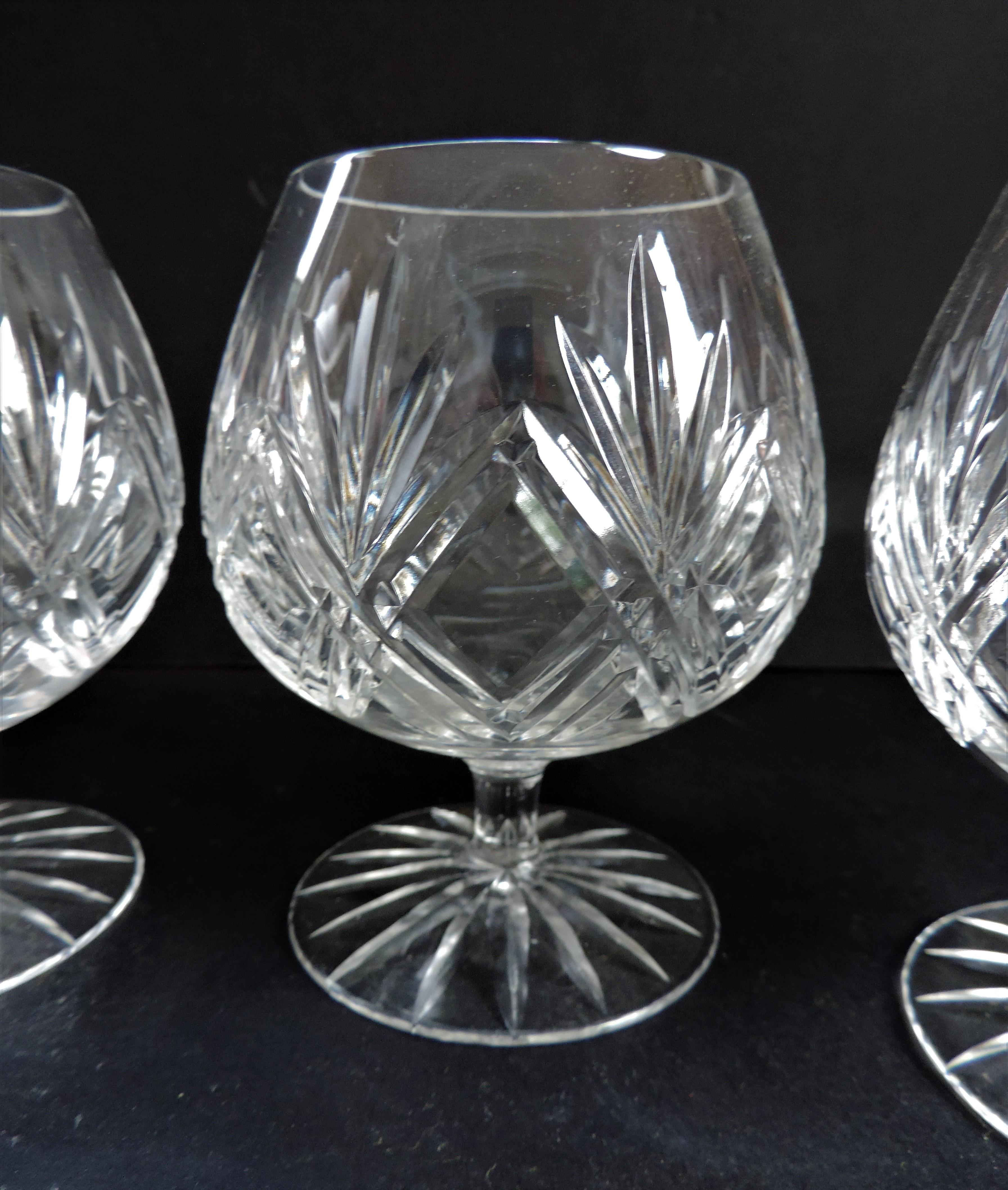 Set 4 Crystal Brandy Glasses - Image 3 of 3