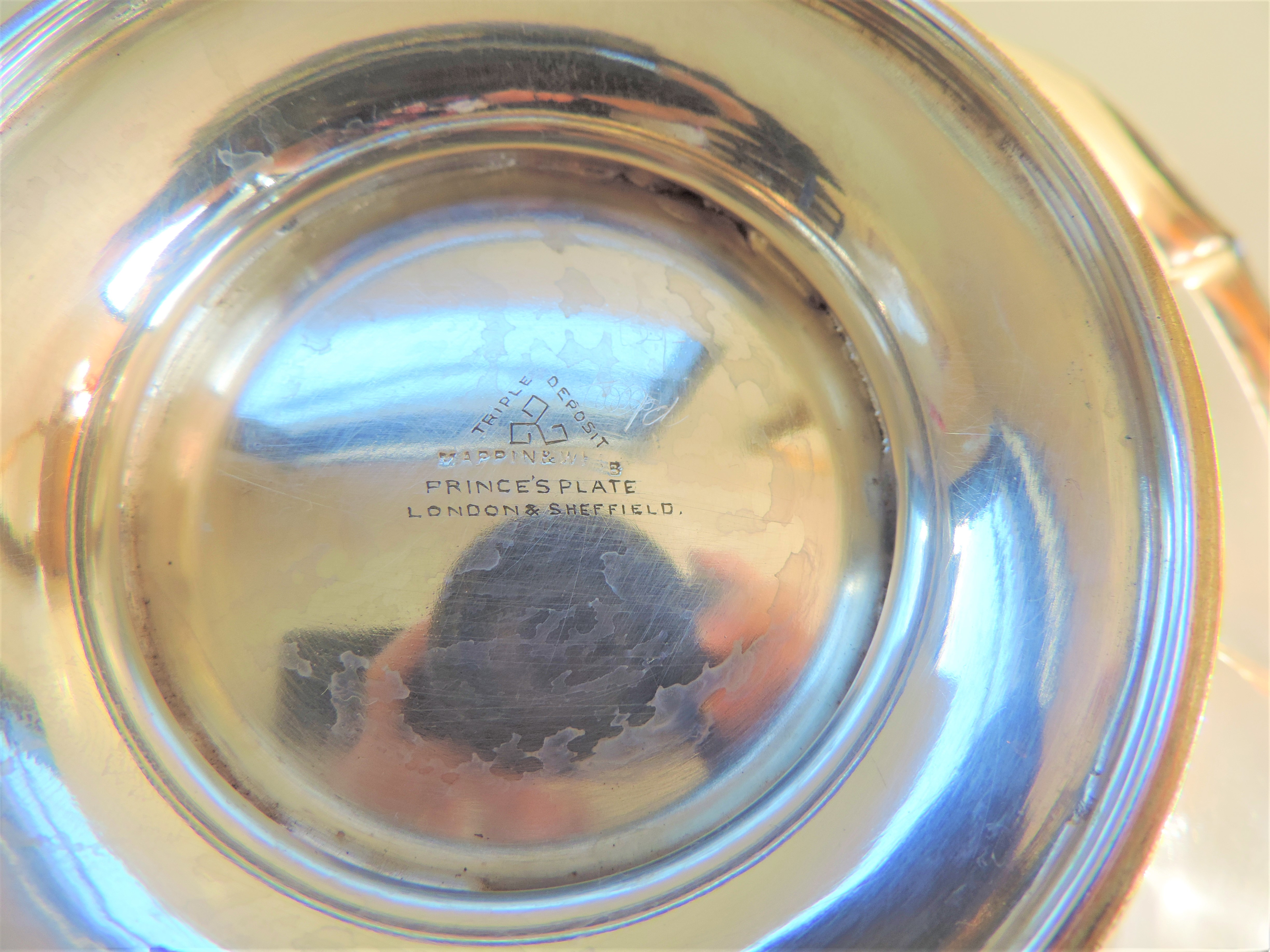 Antique Art Nouveau Mappin & Webb Silver Plated Cake/Bread Basket - Image 5 of 5