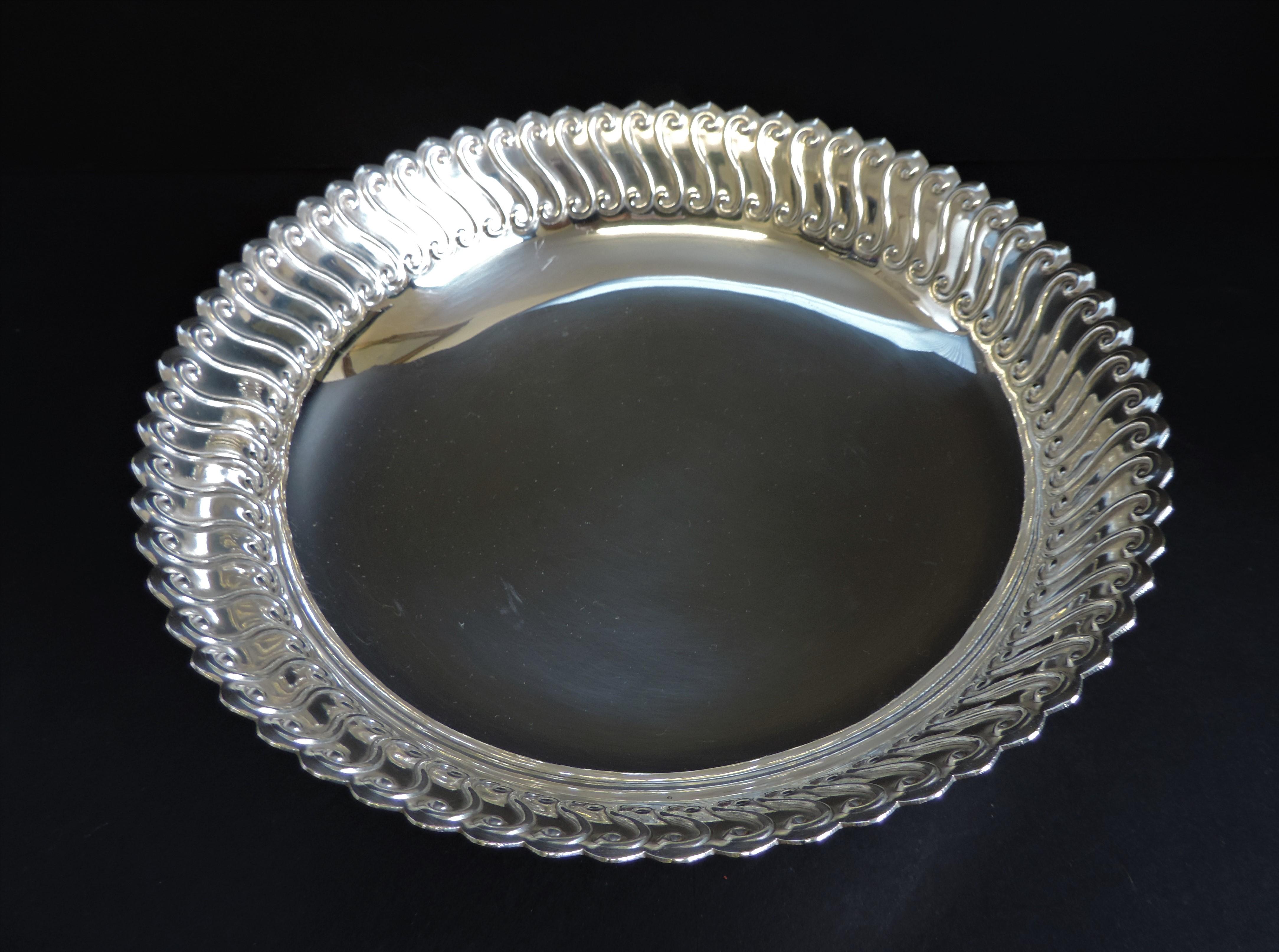 Antique Art Nouveau Silver Plated Pedestal Bowl - Image 3 of 4