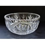 Large Cut Crystal Fruit Bowl 20cm wide